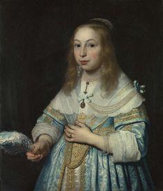 1645 Bartholomeus van der Helst - Portrait Of A Girl