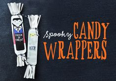 DIY Free Printable Spooky Candy Wrappers by Handmade Charlotte