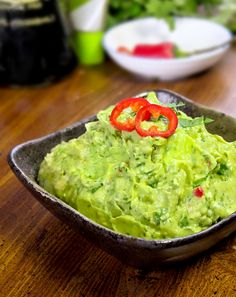 Morimoto's Wasabi Avocado Dip - avocado dip with cilantro, serrano and wasabi