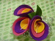 Flores fieltro - Manualidades Isabel - Álbumes web de Picasa