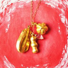 Pippa Small Gold Charm Necklace