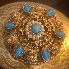 1940s Jewelry, Victorian Jewelry, Antique Jewelry, Vintage Jewelry, Vintage Accessories, Vintage Pearls, Vintage Pins, Vintage Turquoise, Turquoise Jewelry