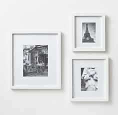 WHITE Wood Gallery Frame