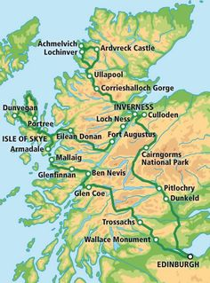 5 Day Tour - The Grand Tour of Scotland map