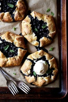 This mini blueberry galettes recipe goes great with a scoop of ice cream