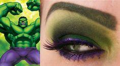 [The Avengers] Avengers-inspired eyeshadow.