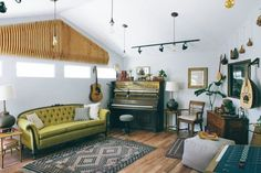 A Garage Turned Eclectic At-Home Music Studio — Professional Project | Apartment Therapy