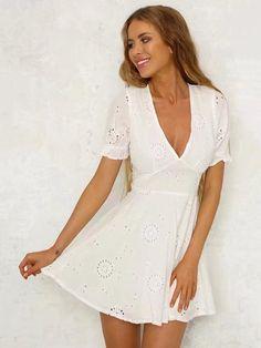 39e27a2b1af7 32 Best White Mini Dress images | Short dresses, White dress, Summer ...