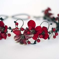 Samodiva...Podzimní věneček-červený