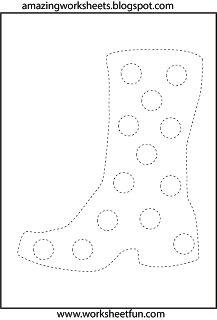 Preschool shapes tracing