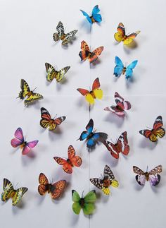 24 PCS. Artificial Butterfly Mix Color  Craft and Decoration. $12.99, via Etsy.