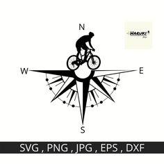 Bike Compass SVG File Biker Vector Image Mountain Bike | Etsy Vinyl Lettering, Lettering Design, Logo Design, Bike Tattoos, Tatoos, Bike Silhouette, Camping Tattoo, Bike Drawing, Desenho Tattoo