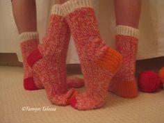 colourful woolly socks