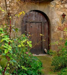 I want to have this door that leads to a secret garden.