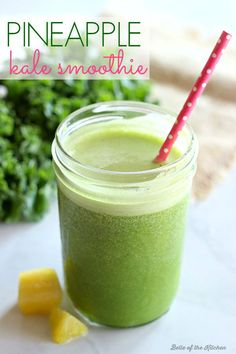 Pineapple Kale Smoothie - Belle of the Kitchen