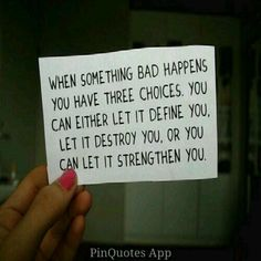 You always have a choice!