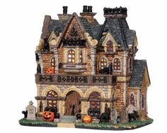Make 2018 a year to remember with the latest Lemax holiday village collectables. Start a family Christmas tradition with Lemax Village Collection today! Halloween Wishes, Halloween House, Halloween Ideas, Happy Halloween, Spook Houses, Haunted Houses, Villas, Christmas Village Collections, Halloween Village Display