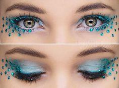 December - Blå Topas Nu är jag klar med alla månadsstenarna, men har tänkt göra ett nytt tema nästa år :)) #GlitterMakeup