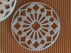 Acrylic Laser cut coasters set by InvenioCrafts on Etsy, €14.00