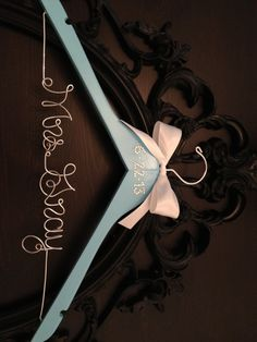 Brides Hanger / Breakfast at Tiffany's Themed Hanger by GetHungUp, $34.00
