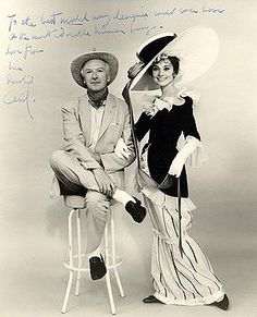 Cecil Beaton, My Fair Lady's costume, production designer and photographer with Audrey, 1963. Audrey Hepburn Estate Collection.