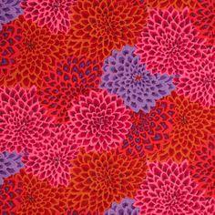 1//2 yard Kaffe Fassett Jupiter-En Coton Rouge quilting tissus