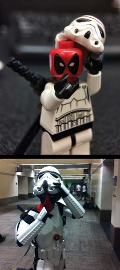 ... Best LEGO cosplay ever: Deadpool as a Stormtrooper! x3