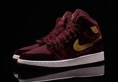 "#sneakers #news  The Air Jordan 1 ""Heiress"" In Red Velvet Is Available"