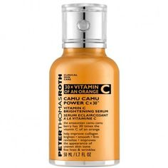 Discover Camu Camu Vitamin C Brightening Serum by Peter Thomas Roth at MECCA. A potent brightening serum that uses the powerful properties of Vitamin C to brighten and smooth the complexion of your skin. Peter Thomas Roth, Best Face Serum, Skin Care Clinic, Vitamin C Serum, Prevent Wrinkles, Uneven Skin Tone, Best Face Products, Beauty Products, Face Care