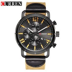 CURREN  watches men Top Brand fashion watch quartz watch male relogio masculino men Army sports Analog Casual 8194 #>=#>=#>=#>=#> Click on the pin to check out discount price, color, size, shipping, etc. Save and like it!