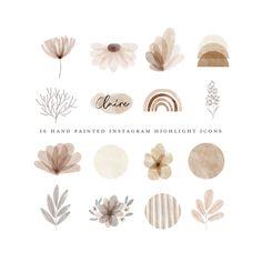 Watercolor Logo, Watercolor Circles, Floral Watercolor, Instagram Design, Free Instagram, Instagram Story, Instagram Feed, Vintage Instagram, Instagram Logo