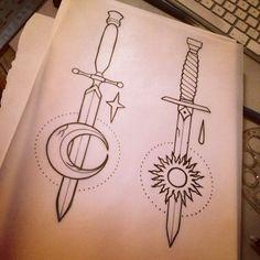 Tatuajes de dagas para chicas y su simbolismo
