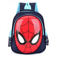 Kids Superhero Spiderman Backpack School Bag Kindergarten Rucksack Dark Blue