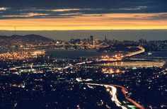 Sunset from the Oakland Hills, looking at San Francisco... one of my favorite places to be..