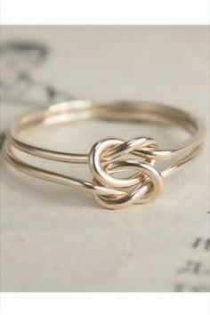Knot engagement ring.