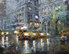 "Mark Lague     ""Manhattan Grays"" - 16""x 20"" - oil on panel"