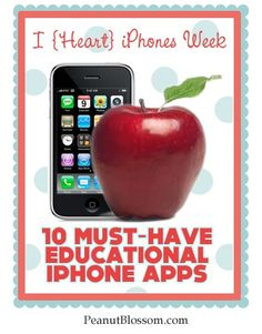 """{Must-Have Educational Apps} Do you have an iPhone or iPad? I would argue your iPhone is much like your TV set, you can use it for good or evil. Sure Angry Birds will keep your child entertained, one could even stretch it and say """"they are learning about geometry."""" Still, there are much better educational apps out there for your iPhone or iPad that will actually make learning FUN. Check it out."""