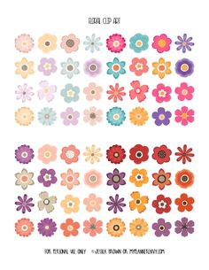 Floral Clip Art from myplannerenvy.com
