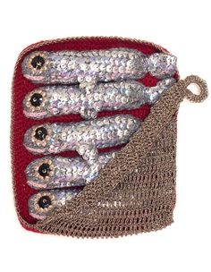 Kate Jenkins -- Tinned Sardines - Medium size, Crocheted Lambswool
