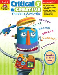 Take a look at this Critical & Creative Thinking Activities: Grade 1 Workbook by Evan-Moor Educational Publishers on today! Creative Thinking Skills, Critical Thinking Skills, Social Studies Curriculum, Homeschool Curriculum, Homeschooling Resources, Lateral Thinking, Student Motivation, Problem Solving Skills, Little Learners