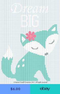 Crochet Patterns - DREAM BIG Baby Fox Color Graph Afghan Pattern