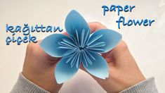 Kağıttan Çiçek Yapımı | Kağıt Katlama Kolay Origami Çiçek 2 - YouTube Soap Making Recipes, Paper Folding, Origami Paper, Easy Gifts, Diy Tutorial, Paper Flowers, Youtube, Youtubers, Youtube Movies