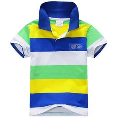 1 Piece Summer Boys Multi Color Short Sleeve Striped Cotton Tops Boy Clothes T Shirt Camisa 2016