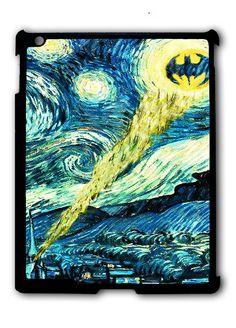 Batman Logo Starry Night iPad 2 3 4, iPad Mini 1 2 3 , iPad Air 1 2