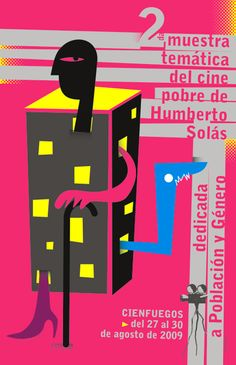 Nelson Ponce, Mayo Teatral, 2010 Festival Cinema, Cuban Art, Kunst Poster, Film, Art Posters, Movie Posters, Mayo, Book Covers, Books