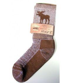 Moose Hiker Brown Socks - Socks - Adult - Moose Clothing - MOOSEVILLE Hiking Socks, Hiking Gear, Camping Gear, Moose Deer, Moose Mug, Brown Socks, Cruise Fashion, Hiking Essentials, My Vibe
