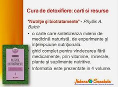 #Cura_de_detoxifiere: #carti recomandate: #Nutritie si #biotratamente, Phyllis A. Balch. Diet, Biochemistry