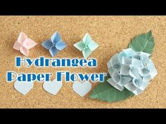 How ー ト 型 ク ラ フ ト パ ン チ で 作 る 立体 的 な ア ジ サ イ の 花 – Comment faire une fleur en papier d'hortensia – Origami Community : Explore the best and the most trending origami Ideas and easy origami Tutorial Paper Flower Wall, Paper Flowers Diy, Flower Cards, Paper Roses, Origami And Kirigami, Origami Easy, Quilling Paper Craft, Paper Crafts, Flower Picture Frames