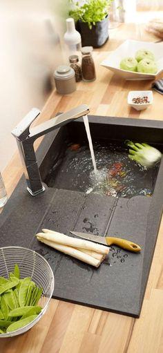 Cuisine aménagée conseil : plan de travail, rangement, triangle d'activité... - Côté Maison