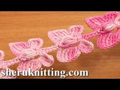 Learn how to crochet a beautiful butterfly cord